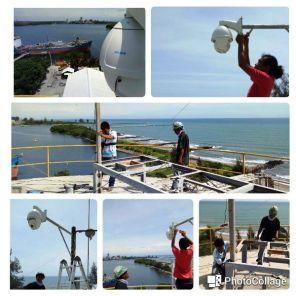 Pemasangan CCTV PTZ Puncak Silo